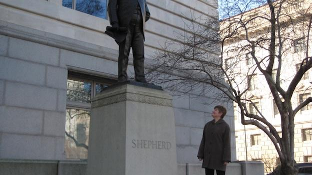 Washington Walks owner Carolyn Crouch says Alexander Robey Shepherd was a contentious, controversial figure in D.C. history.