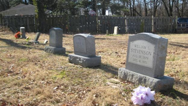 Headstones in the cemetery next to Sandy Spring's Mt. Zion United Methodist Church date back to the mid-1800s.