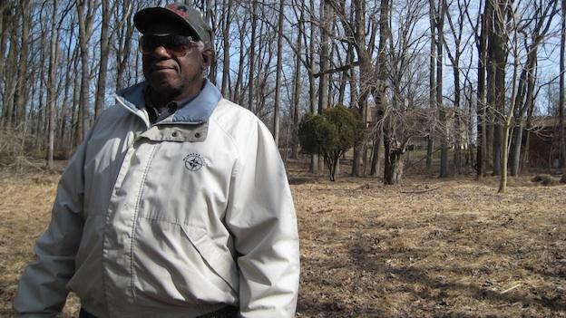 William P. Rounds says his property has been alongside Farm Road for more than 100 years.
