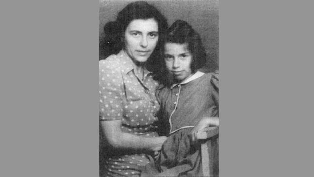 Marione and her mother before the bombings began.