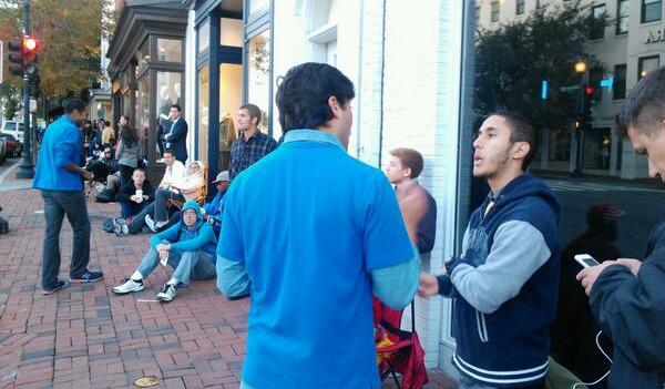 The line outside the Apple store in Georgetown started forming on Thursday evening.
