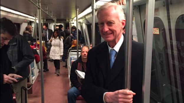 Council member Jack Evans (D-Ward 2) made an appearance on the Metro Thursday morning.