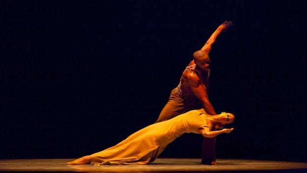 Alvin Ailey American Dance Theater's Jermaine Terry and Alicia Graf Mack in Alvin Ailey's Revelations.