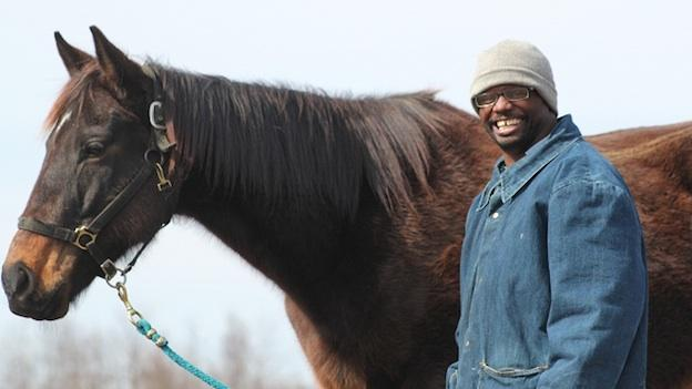 Michael Jones feeds and grooms the horse seven days a week.