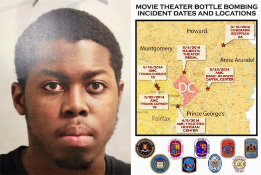 """""""Moviegoers can indeed rest easier with the arrest of 20-year-old suspect Manuel Joyner Bell Jr., also know as Manuel Joyner,"""" said Prince George's County Fire Chief Marc Bashoor."""