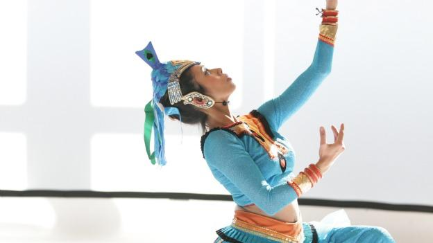 Dancer Asanga Domask performs in Peter DiMuro and Public Displays of Motion's Future Preludes.
