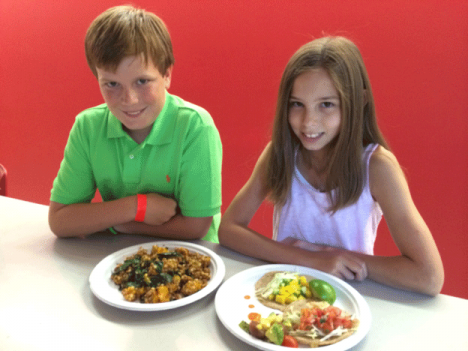 "Maxwell Wix of D.C. and Esther Matheny of Maryland are two of the young cooks who won Epicurious' ""Healthy Lunchtime"" challenge."