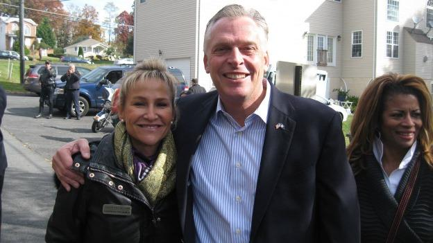 Kincaid with Virginia's governor-elect Terry McAuliffe during the campaign.