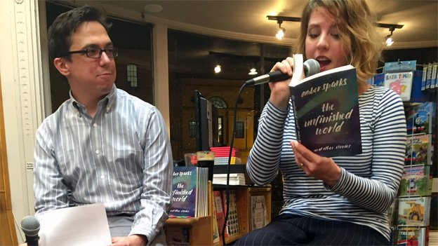 """D.C. resident and author Amber Sparks reads a selection from her book """"The Unfinished World and Other Stories."""""""