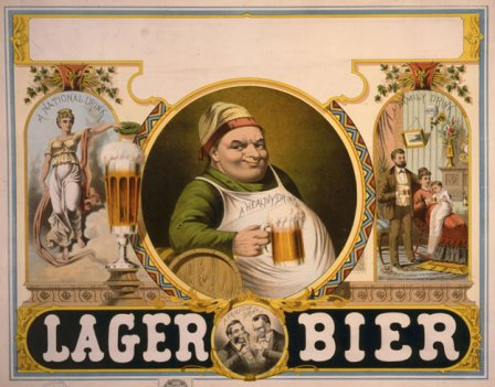 An 1879 ad touts lager beer as a healthy, family-friendly beverage.