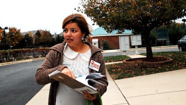 Maria Rodriguez has been part of the Virginia New Majority canvassing effort since September.