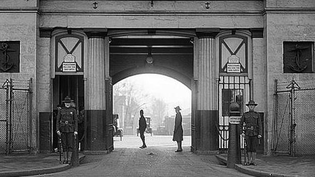 Latrobe Gate at the Navy Yard in Washington, D.C., circa 1923