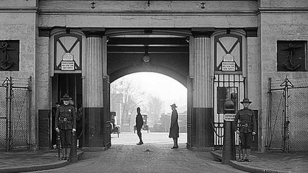 Latrobe Gate at the Navy Yard in Washington, D.C., circa 1923