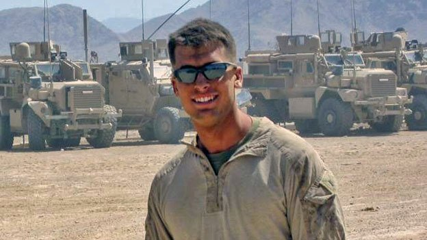 Marine Lt. Jeffrey Clement, who served two years in Afghanistan.
