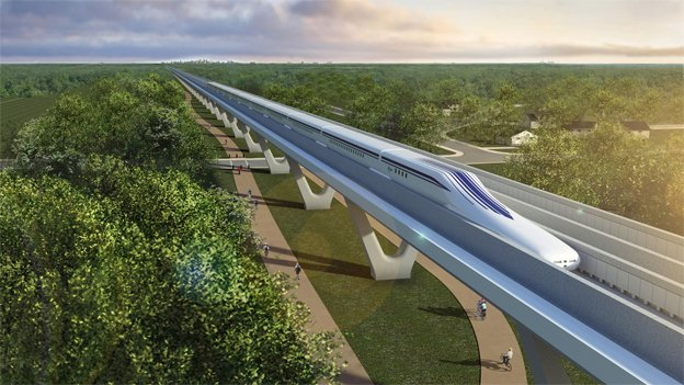 A maglev train could get from D.C. to Baltimore in 15 minutes or to New York City in an hour.