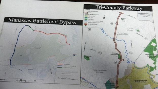 The Virginia Department of Transportation and the National Park Service are supporting plans for a four-lane highway that would run along a historic battlefield.