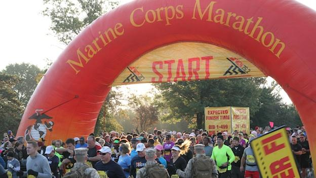 Over 30,000 people participated in this year's Marine Corps Marathon.