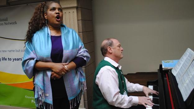 Six years after being diagnosed with Polymyositis, opera soprano Marquita Lister (pictured at National Rehabilitation Hospital, performing with pianist/rheumatologist Dr. Robert Bunning) is well on the road to recovery.