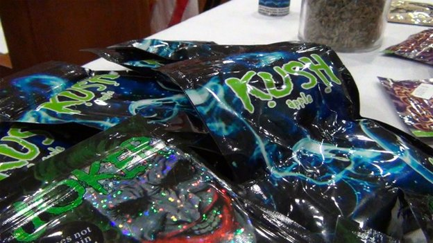 Synthetic drugs often use packaging with labels and flavors meant to appeal to young people.