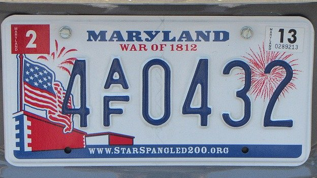 Maryland's license plate: pretty attractive.