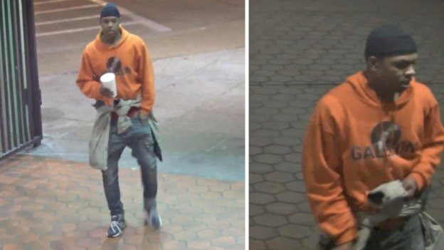 Metro Transit Police are searching for this man, who is accused of kidnapping and robbing a man on Friday.