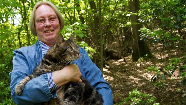 Mary Ellen Michael rescued a starving cat, more than six months after it was lost on Catoctin Mountain near Frederick, Md.