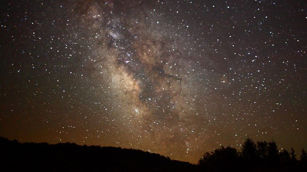 D.C. area star-gazers are lucky to spot a few dozen stars, much less the Milky Way, as visible here in West Virginia.