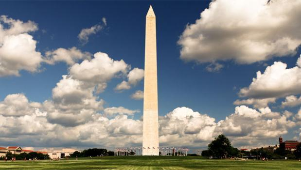 You won't see the Washington Monument in its naked form until at least 2014.
