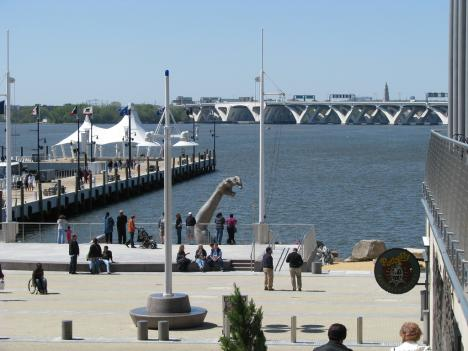 "A 2010 photo of the sculpture ""The Awakening"" by Seward Johnson at National Harbor, Maryland.  A casino at National Harbor is being proposed to the Maryland General Assembly."