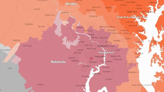 Do you back the Nats, or the Orioles? It depends where you live.