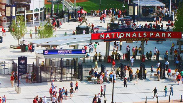 Nationals Park is just blocks from the scene of the shooting on Monday.