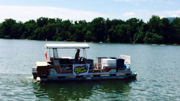 That's not just any pontoon boat, but D.C.'s first food boat.