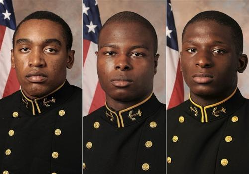 Midshipmen Tra'ves Bush, Eric Graham and Josh Tate may face a court-martial on charges that they sexually assaulted a female midshipman.