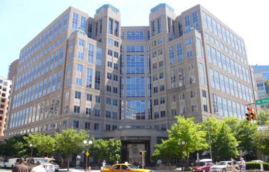 The National Science Foundation's current headquarters at 4201 Wilson Boulevard, Arlington, Va. The agency is moving to the Carlyle section of Alexandria after the city offered a $23 million tax break.