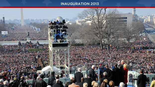 Nearly 2 million people traveled to Washington D.C. for the inauguration of President Obama in 2009. The number is expected to be about half that for his second inaugural.