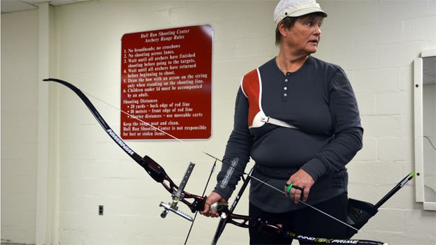 Anne Abernathy is an Olympian many times over, and now at age 60, she's picking up archery to try and get back in the Games.