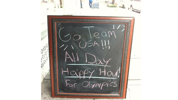 Several bars and restaurants in the District are offering happy hour specials in honor for of the Olympics.