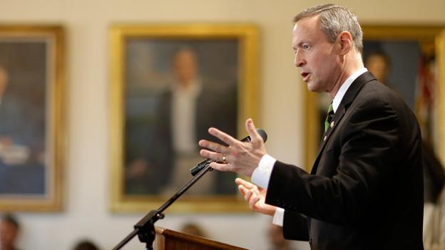Maryland Gov. Martin O'Malley speaks at a news conference in Annapolis, Md. O'Malley is believed to have presidential aspirations.