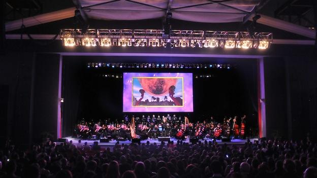 A full orchestra performs The Legend of Zelda: Symphony of the Goddesses, a touring concert produced by Jason Michael Paul Productions with a musical score approved by Nintendo sound director and Zelda franchise composer, Koji Kondo.