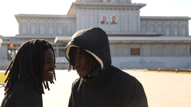 "Pacman and Peso recorded the video for ""Escape to North Korea"" on location in the totalitarian country."