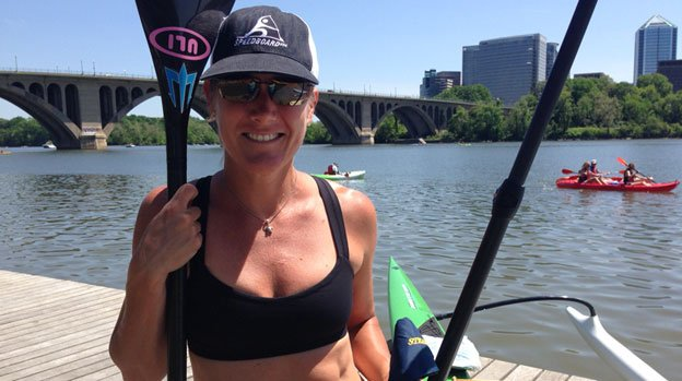 Kathy Summers was one of the very first standup paddlers on the Potomac, and runs Stand Up Paddle DC, a Facebook community.