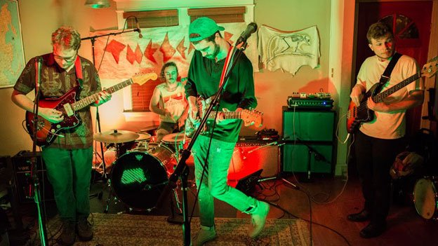 The Sea Life performing at The Paperhaus, a house venue in Petworth.