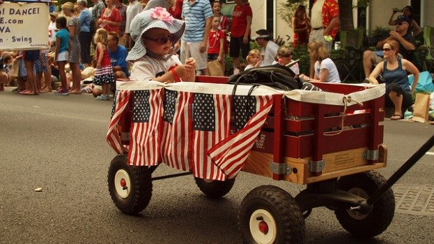 There's no better way to show off your patriotic fervor than parading around town.