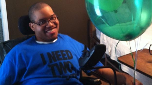 Sam Queen celebrates his 20th birthday. He will age out of the foster care system when he turns 21.