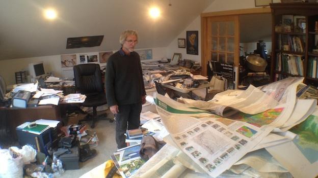 Dr David Powars overlooks his office.