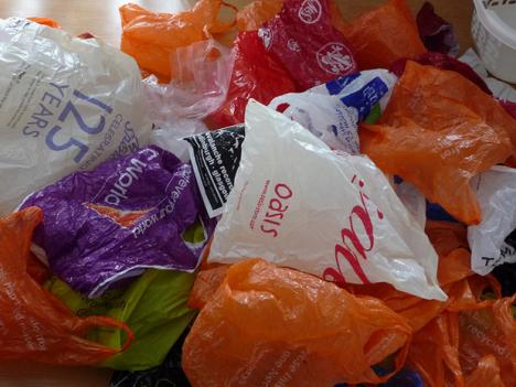 An assortment of plastic bags
