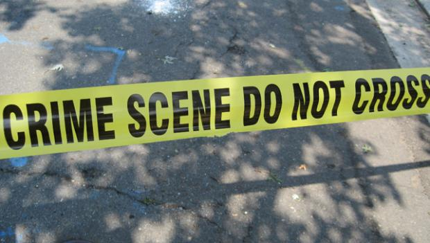 File Photo of crime scene tape used to block traffic during investigations.