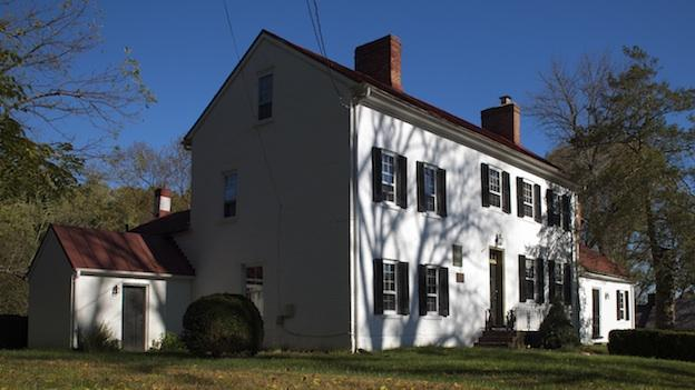 "After fleeing Washington, D.C., during the War of 1812, President James Madison spent the night in this Brookeville home, supposedly making Brookeville ""U.S. Capital for a Day."""