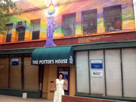 The iconic mural on the front of The Potter's House in Adam's Morgan may not be around for much longer.