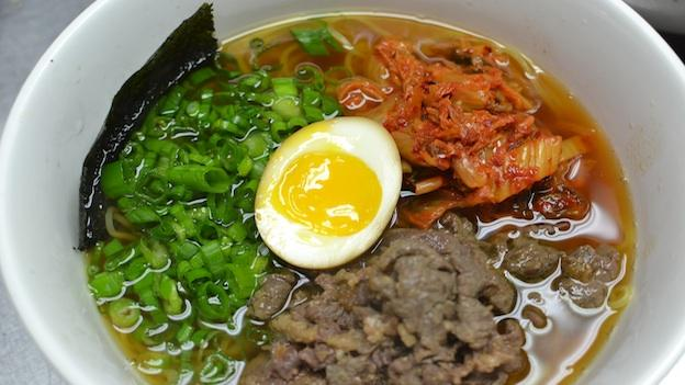 The Shoki Ramen Bowl at Sakuramen combines traditional ramen with korean influences, like beef bulgogi.